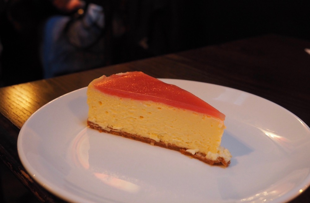 Brillat-Savarin & White Peach Cheesecake