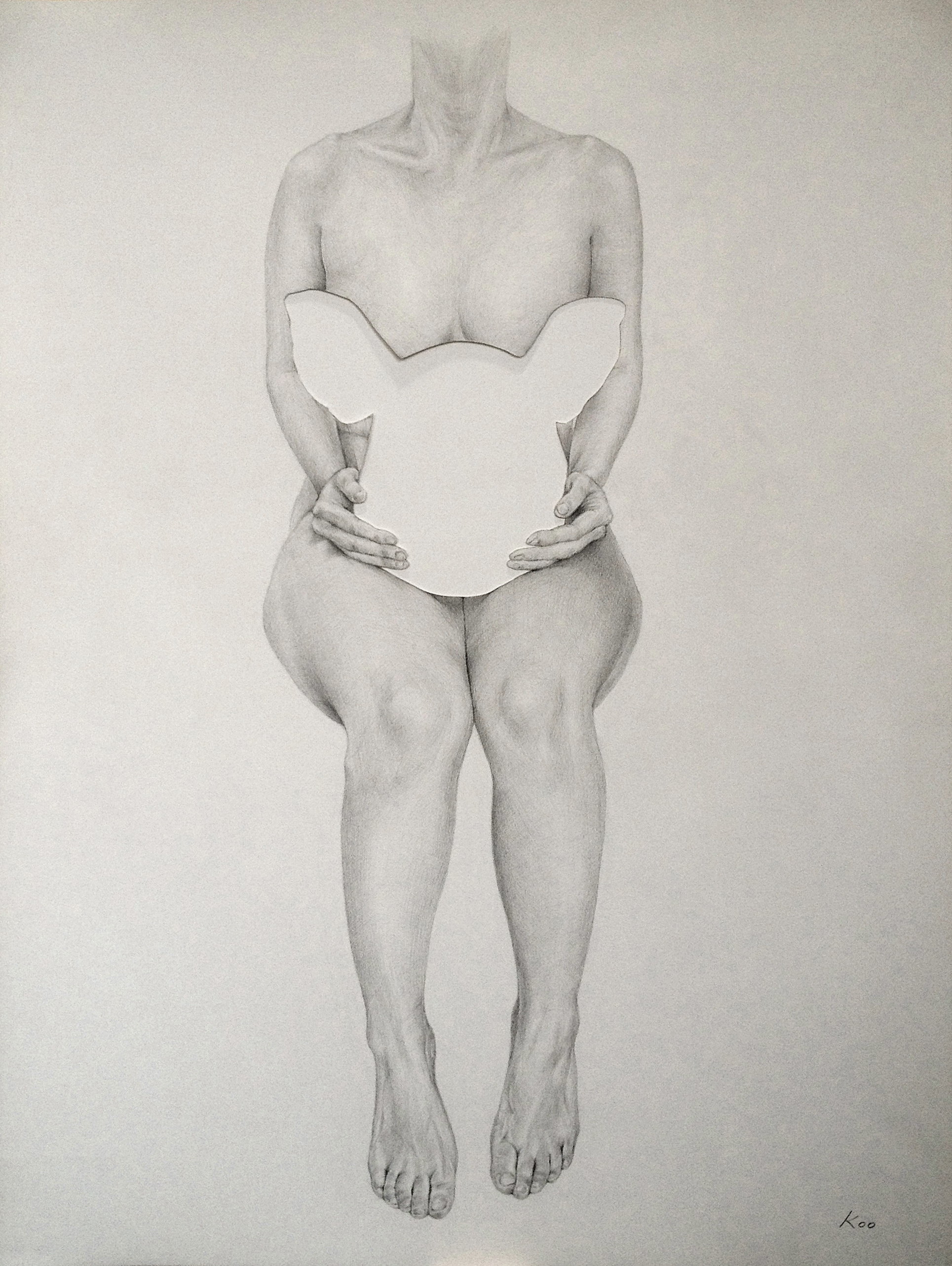 "Pencil on Paper  24"" x 18"", 2014"