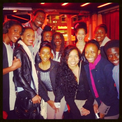 With cast members, Kyle Scatliffe & Idriss Kargbo
