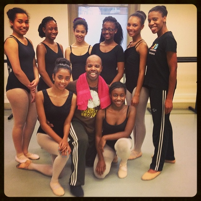 The dancers with Denzil Bailey
