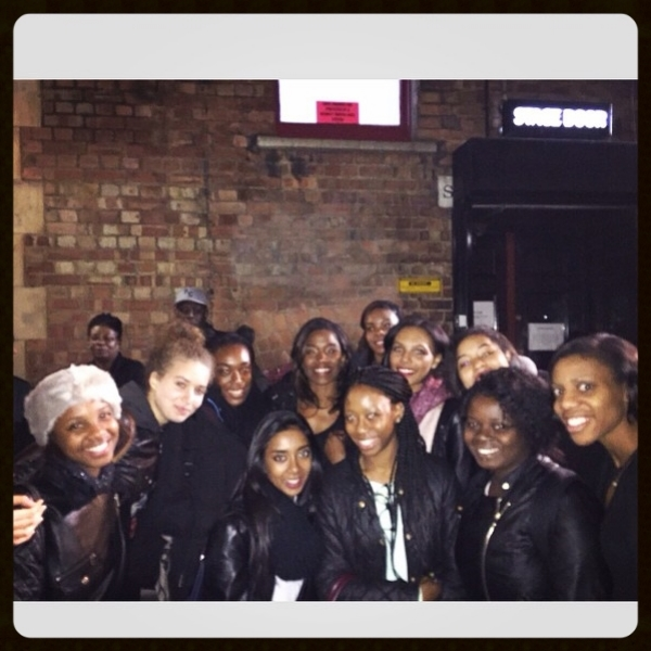 The dancers with leading lady, Rachel John