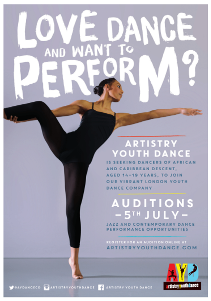 Artistry Youth Dance audition 2015