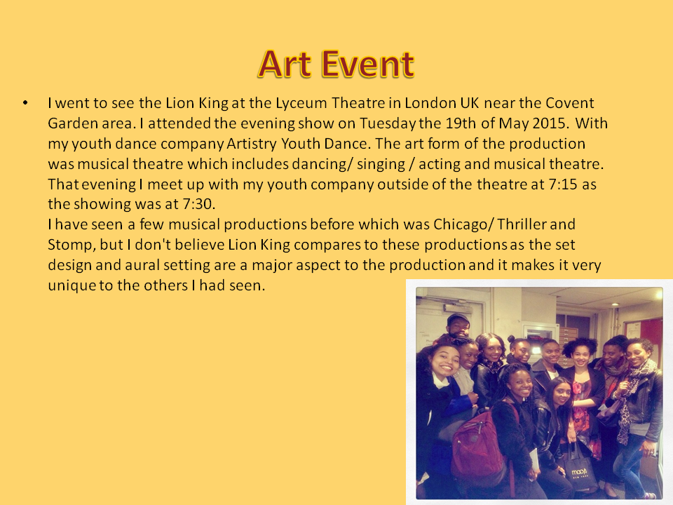 Lion King Review - Kyra Mills