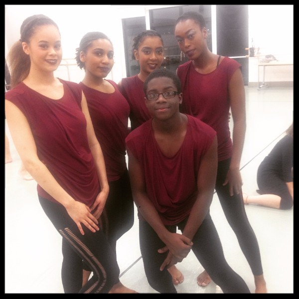 The dancers at Phoenix Dance Theatre before 'Restec' Leeds