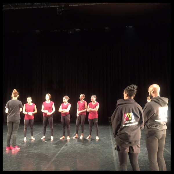 The dancers in rehearsal at 'Restec', Leeds