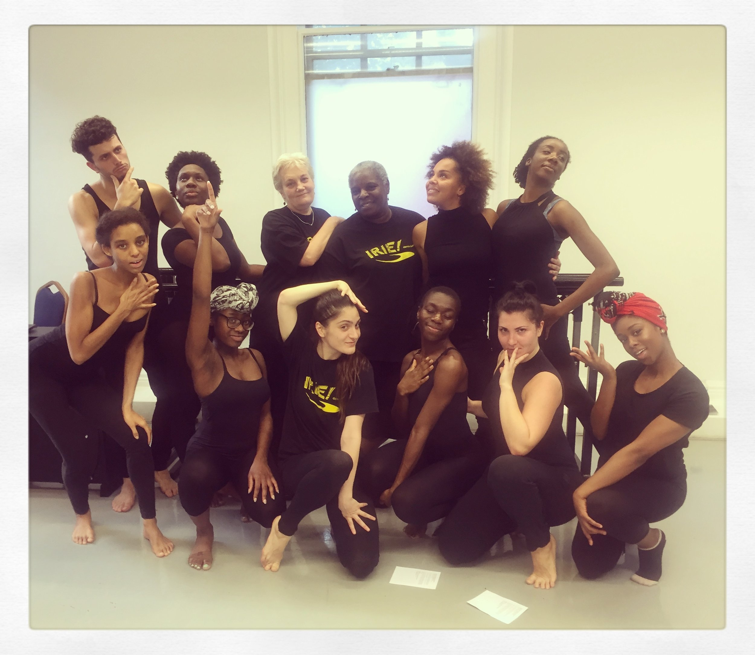 With the artists from Irie Dance