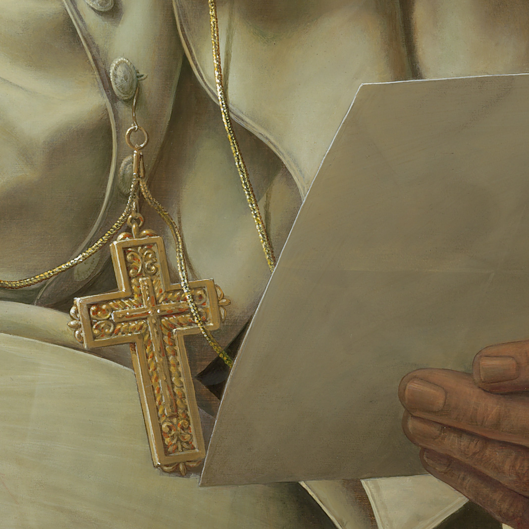 Michael Triegel, Porträt Papst Benedikt XVI., 2010 (Detail)