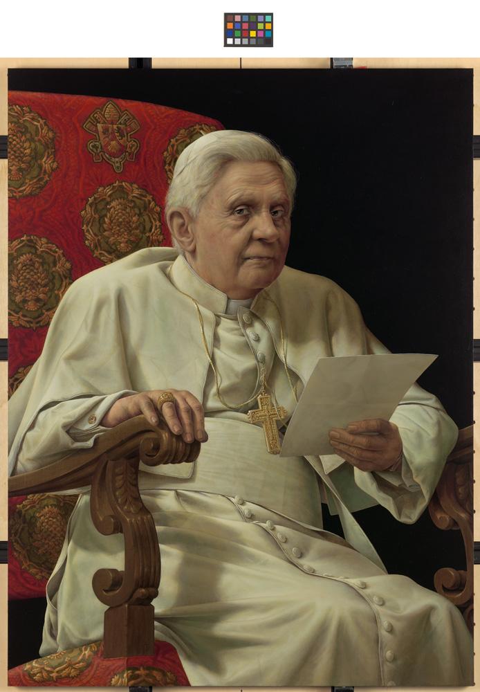 Michael Triegel, Porträt Papst Benedikt XVI., 2010
