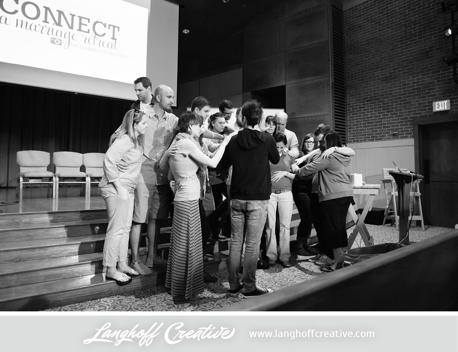One of the highest points of CONNECT is definitely hearing from couples who experienced complete transformation and restoration in their marriages because of what God taught them during their time there. There weren't many dry eyes in the house during this touching moment of prayer over one particular couple. Amazing!