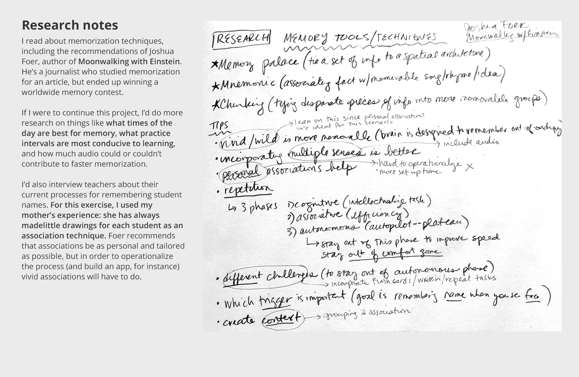 Design Exercise: Names and Faces — Rebecca Ackermann