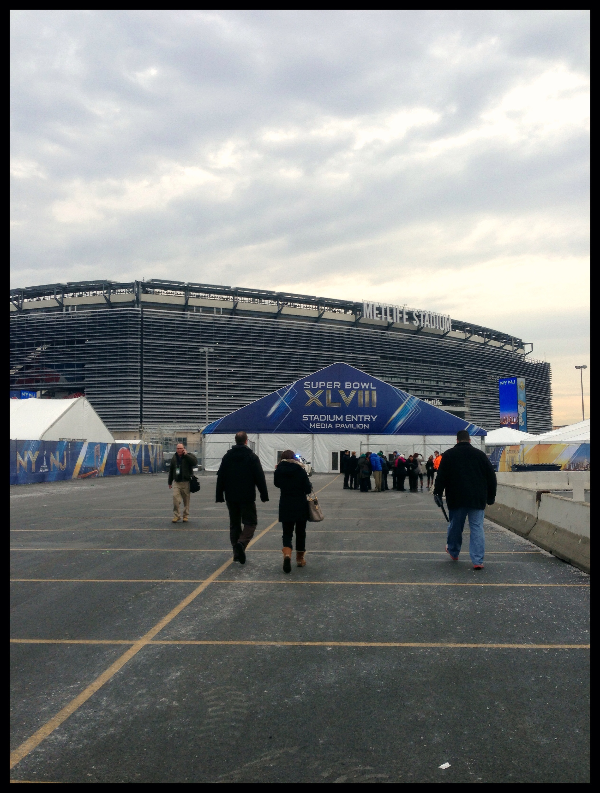 Preparations at Met life Stadium for the Big Game