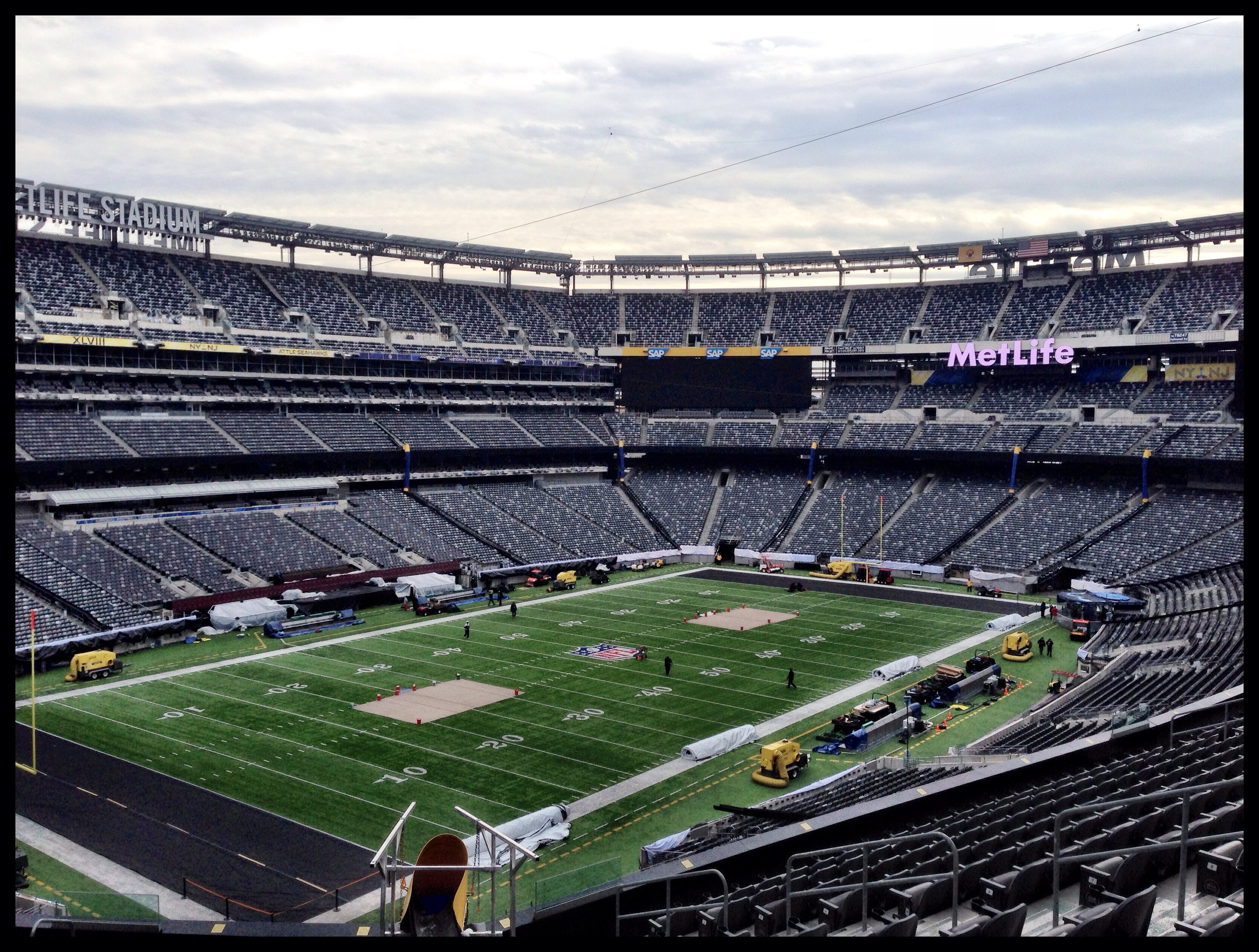 view of the field from the suites