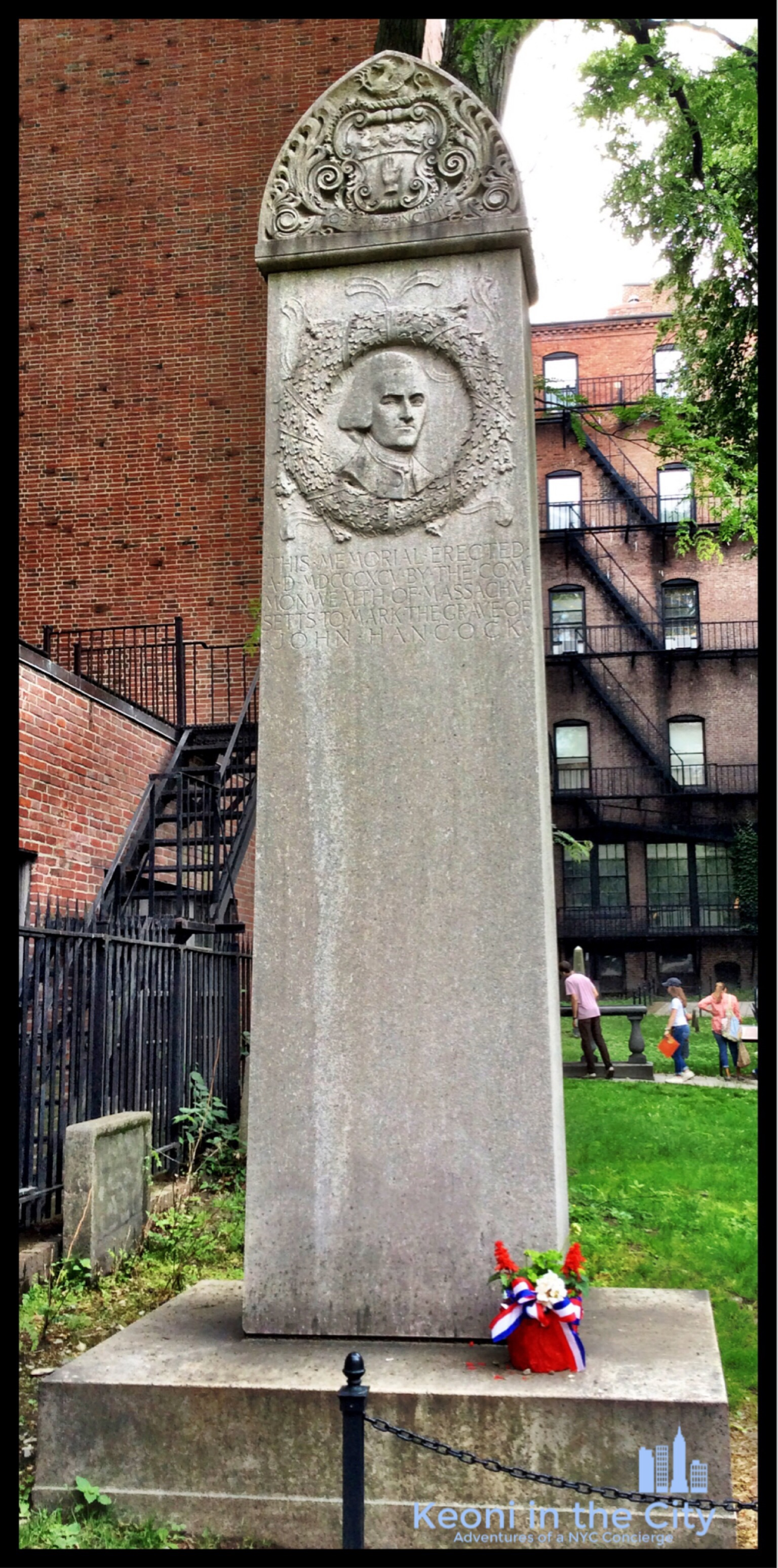 Proof that our forefathers had a sense of humor; John Hancock's gravestone