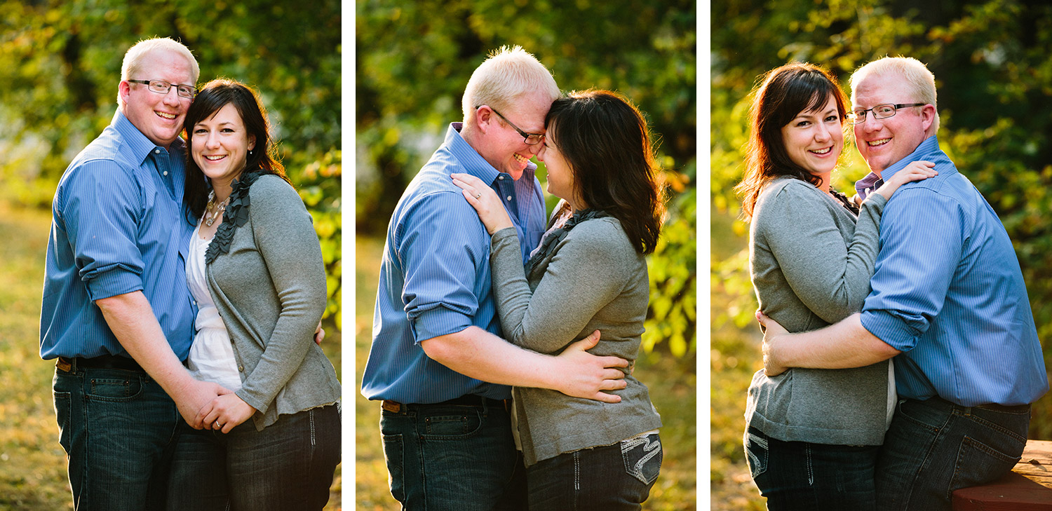 brainerd lakes fall engagement session