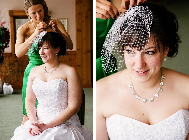 Bride getting ready at Cragun's