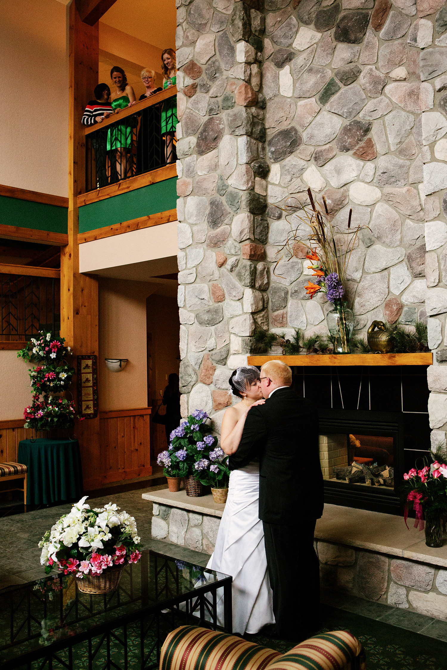 bride and groom first sight at Craguns golf course
