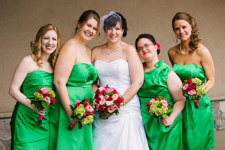bridesmaids at cragun's legacy in brainerd