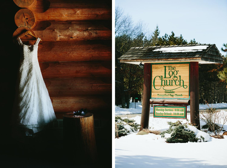 crosslake, mn wedding in winter