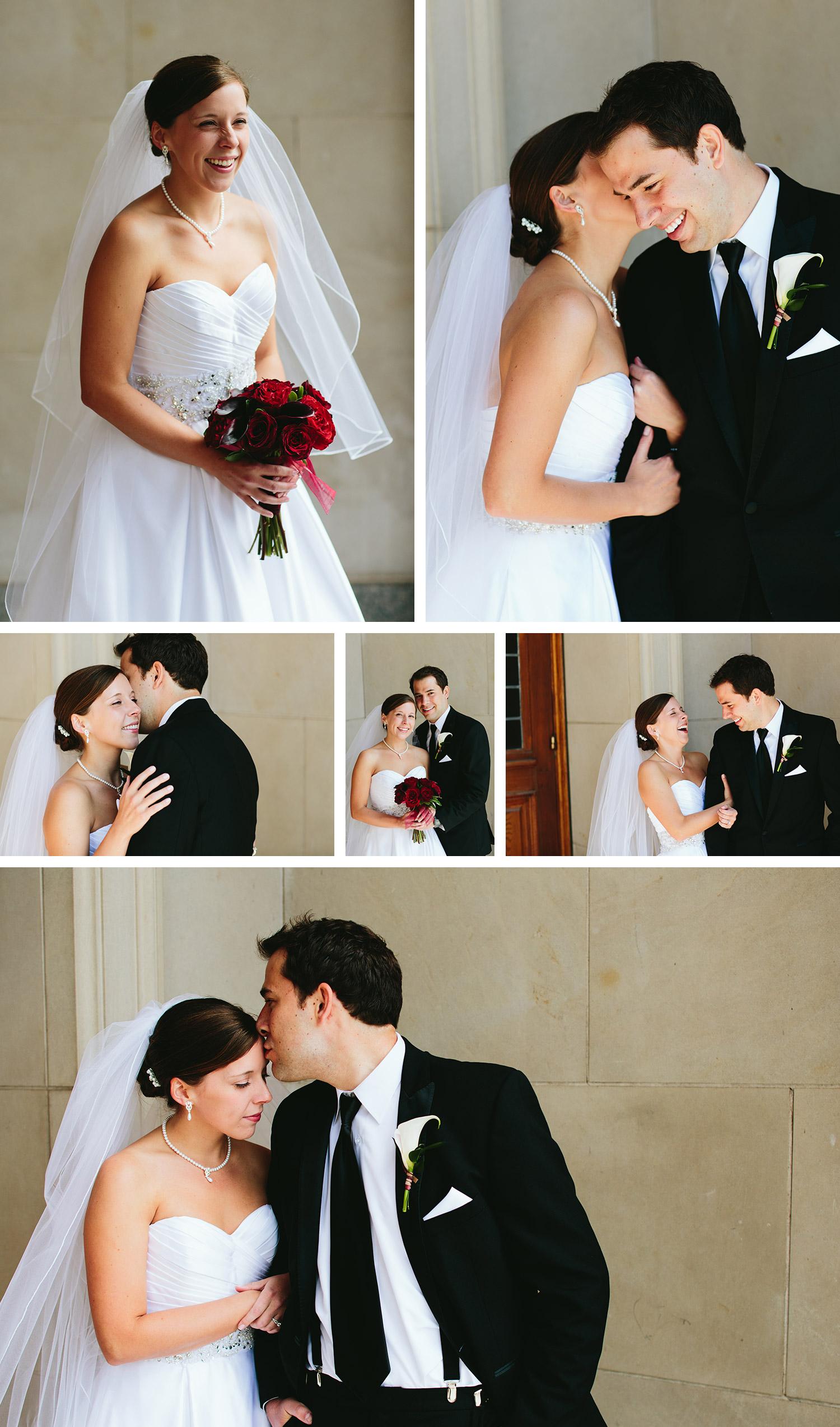 Duluth Cathedral Catholic Wedding couple portraits