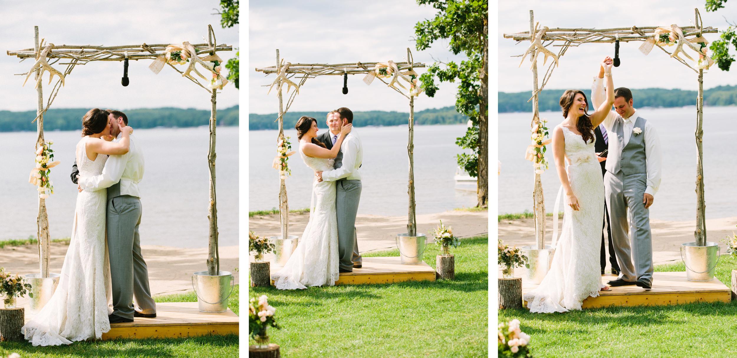 Minnesota summer beach wedding on Gull Lake at Madden's Resort