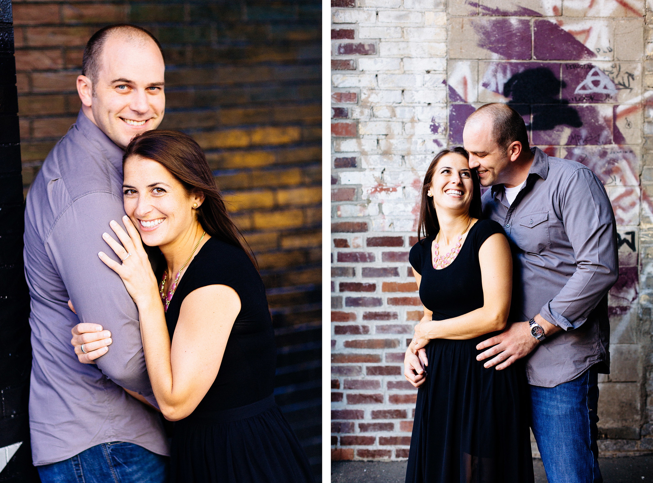 Minneapolis Engagement Session: Saint Anthony and First Avenue