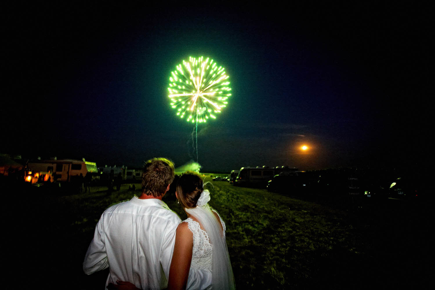 brainerd mn farm wedding with fireworks