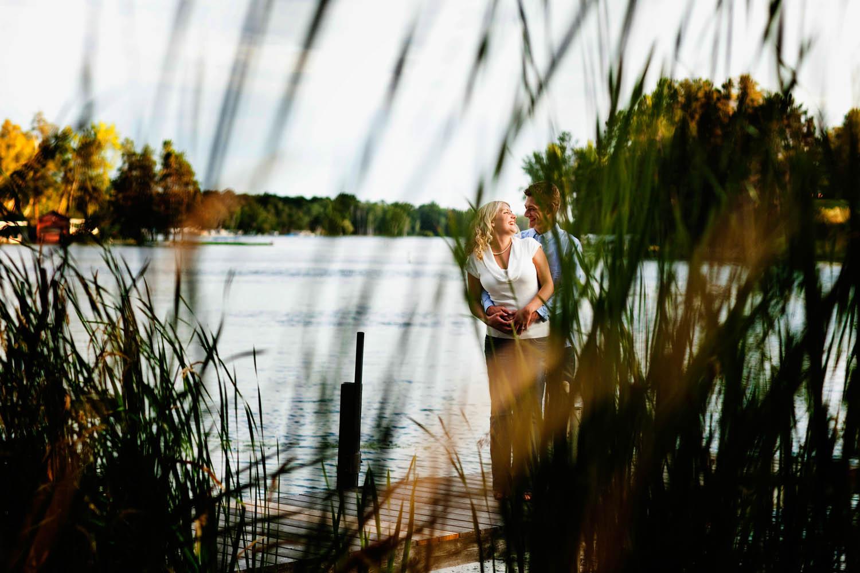 white fish lake in crosslake, mn wedding engagement images