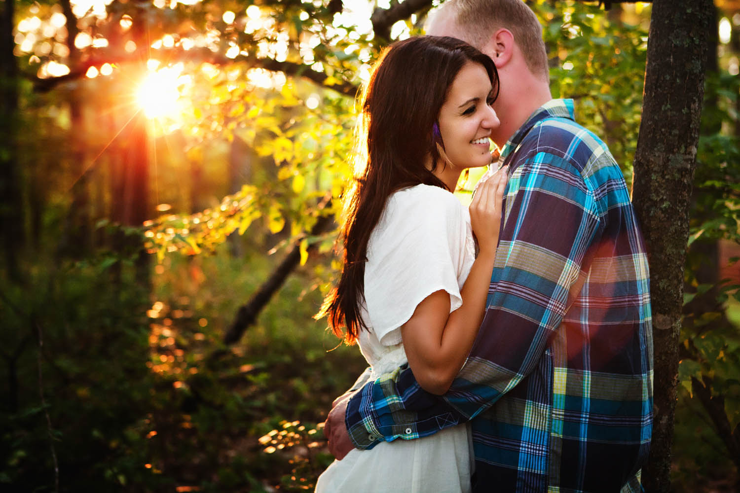 summer engagement session on gull lake, mn