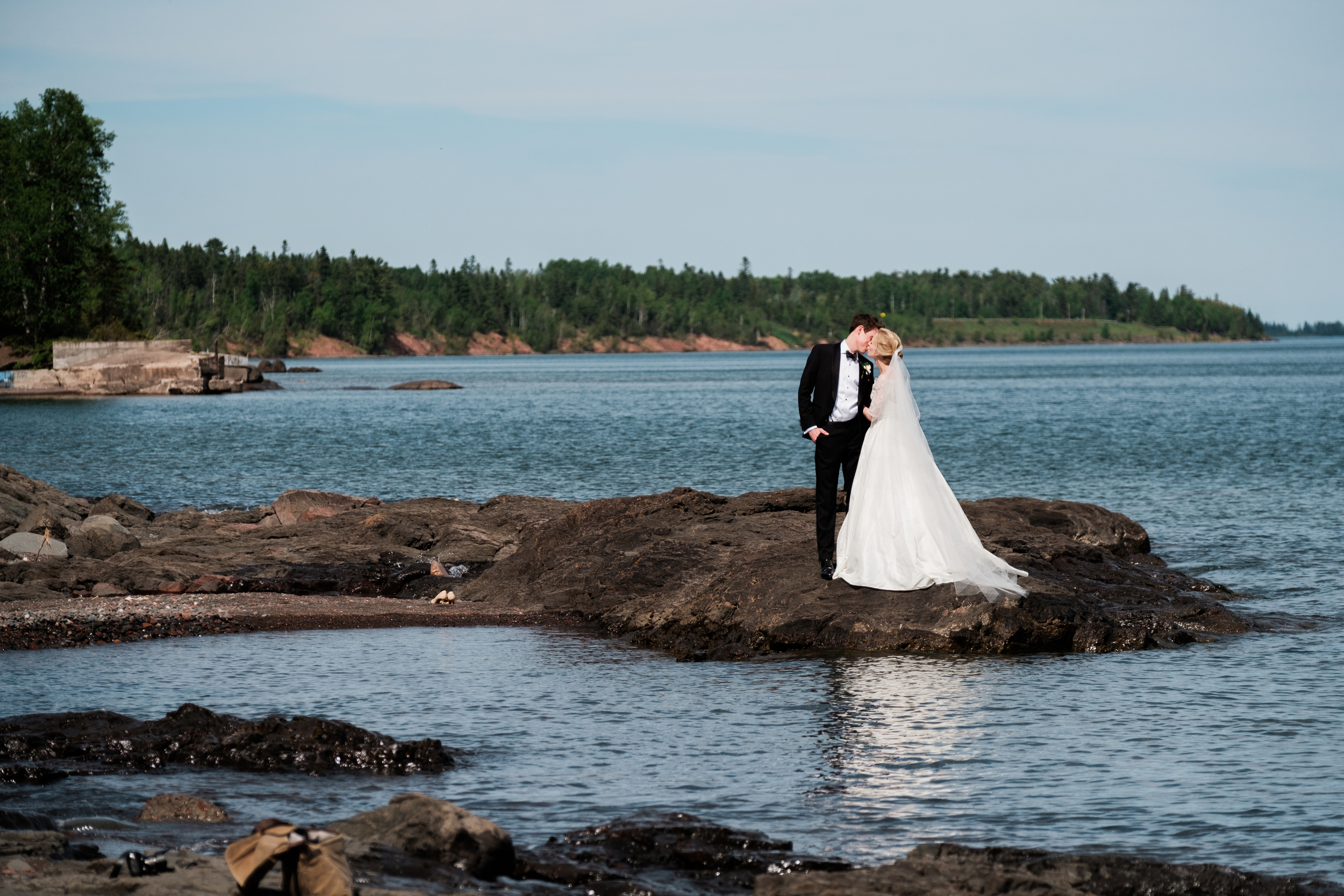 Duluth MN North Shore Wedding Portrait
