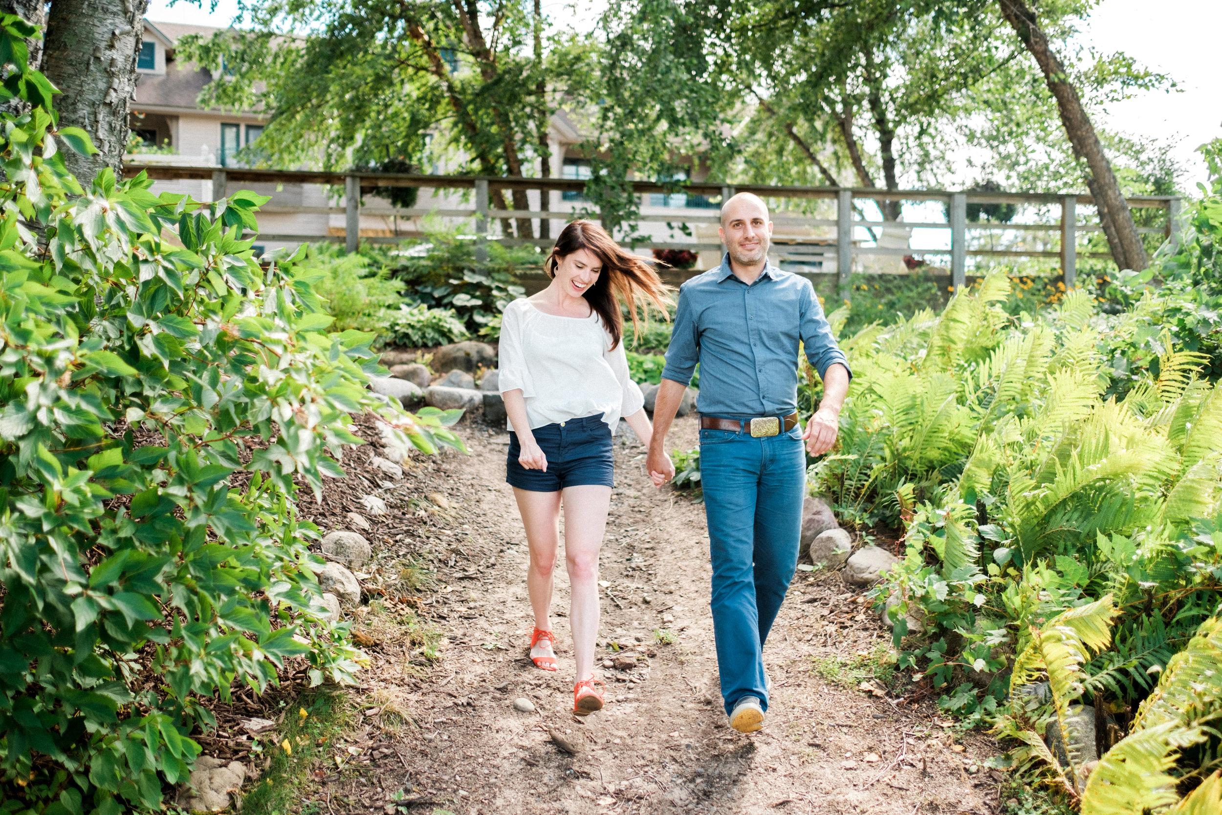 Brainerd wedding couple engagement session at Madden's Resort