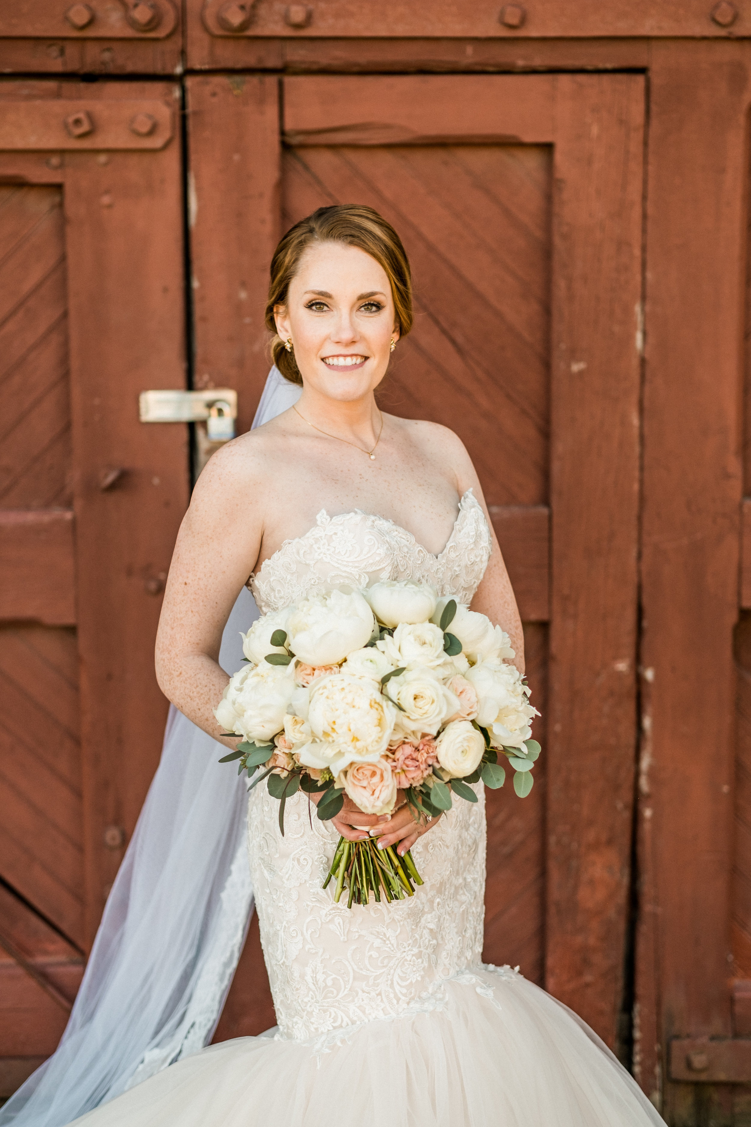 picture of bride at the northern pacific center in brainerd