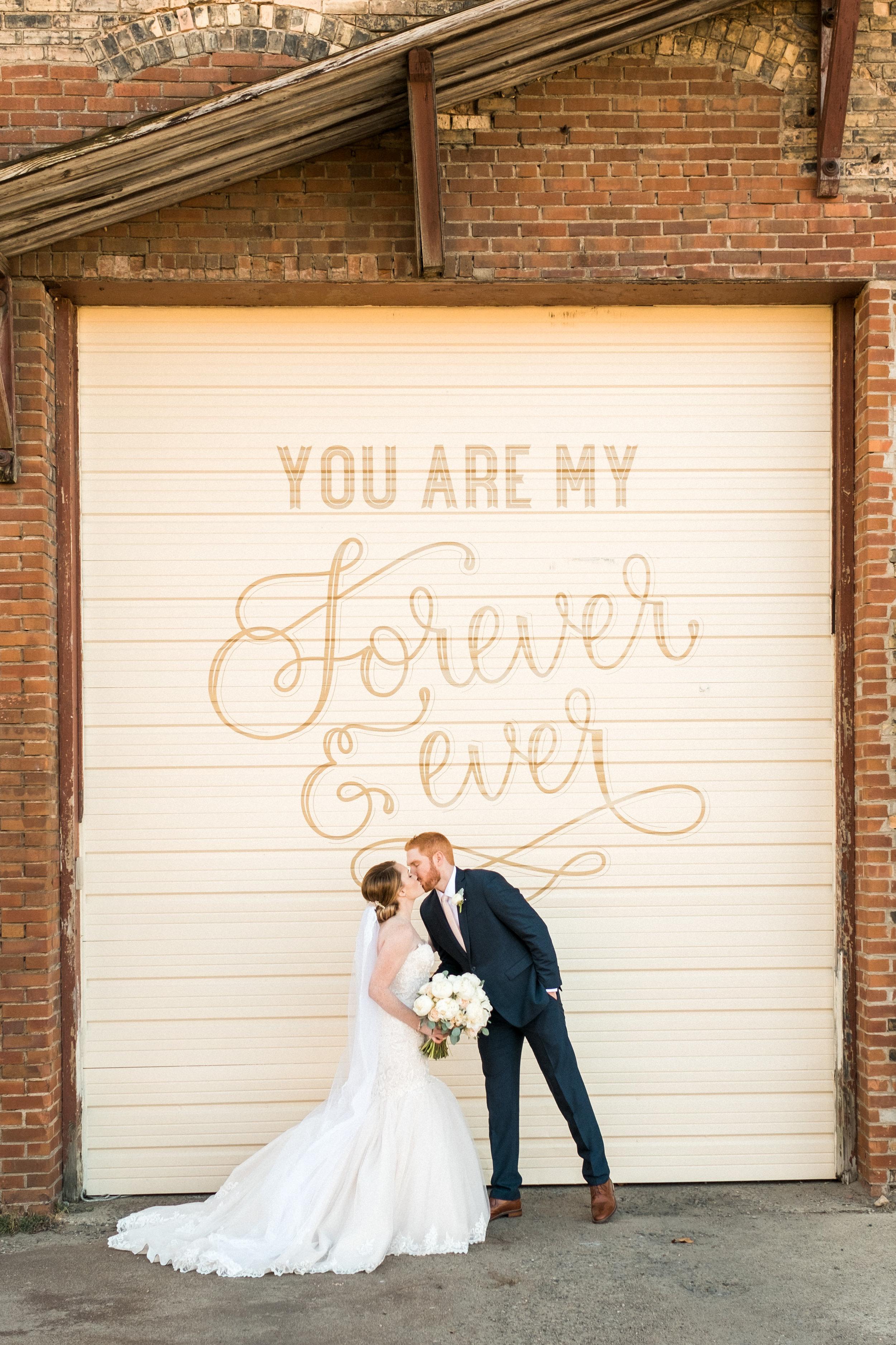 outdoor wedding signage NP Space minnesota