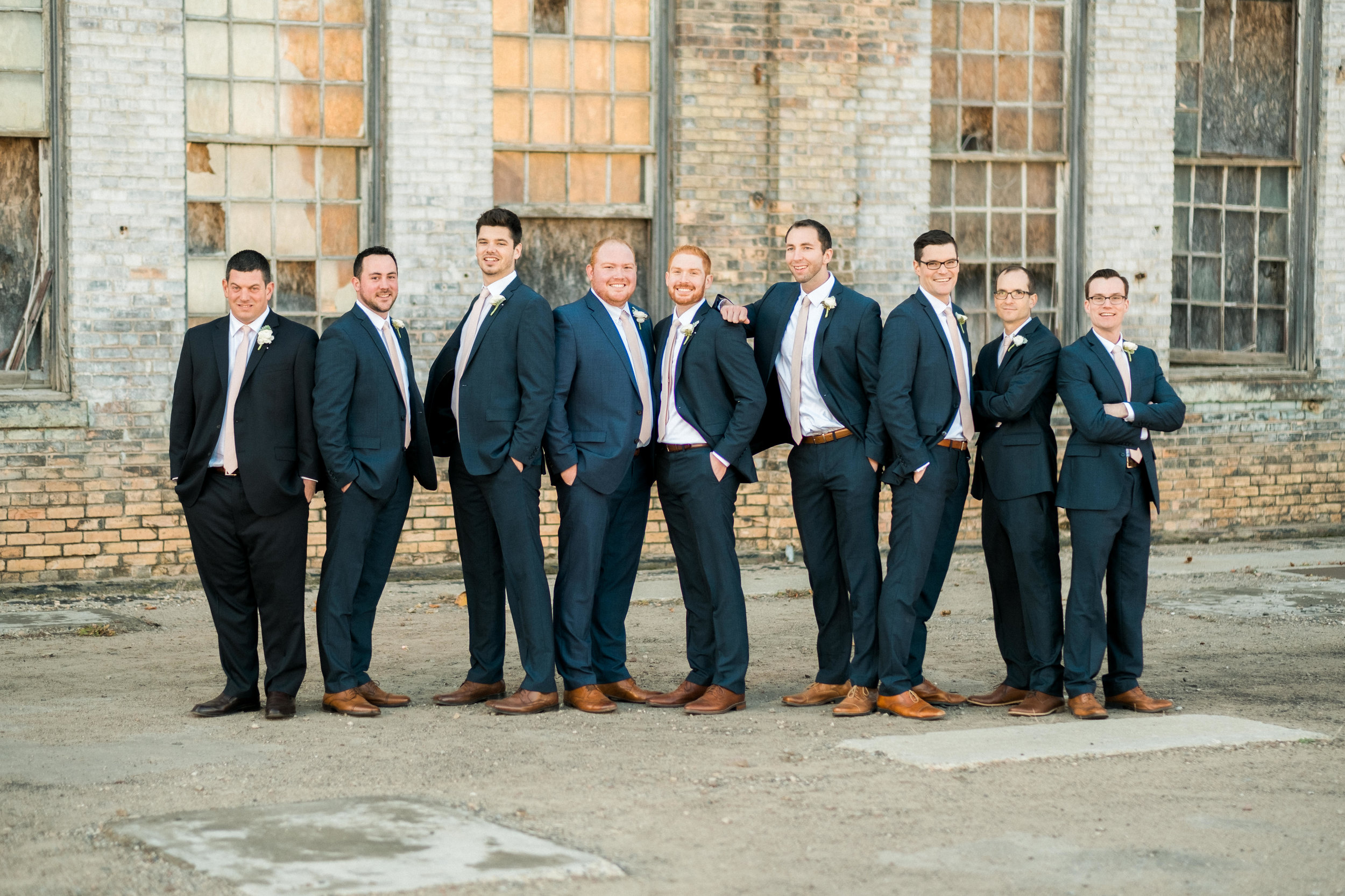 groomsmen grouping at the np space in brainerd