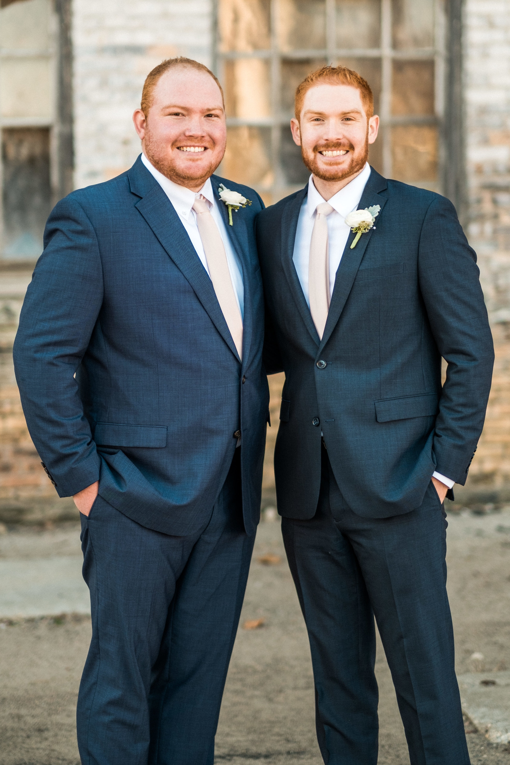 groom and best man wedding portrait minnesota wedding