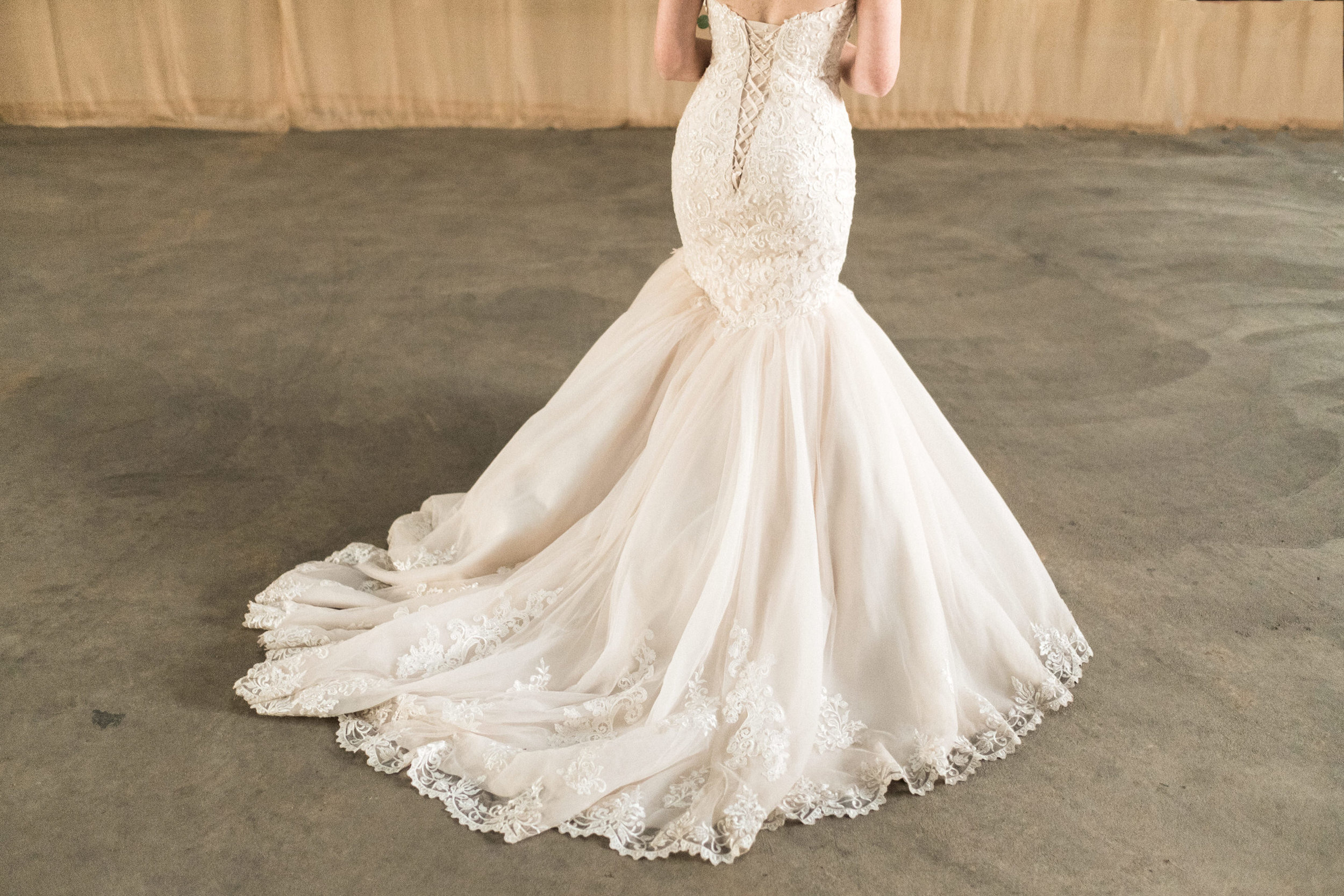 beautiful wedding dress at the northern pacific space in brainerd