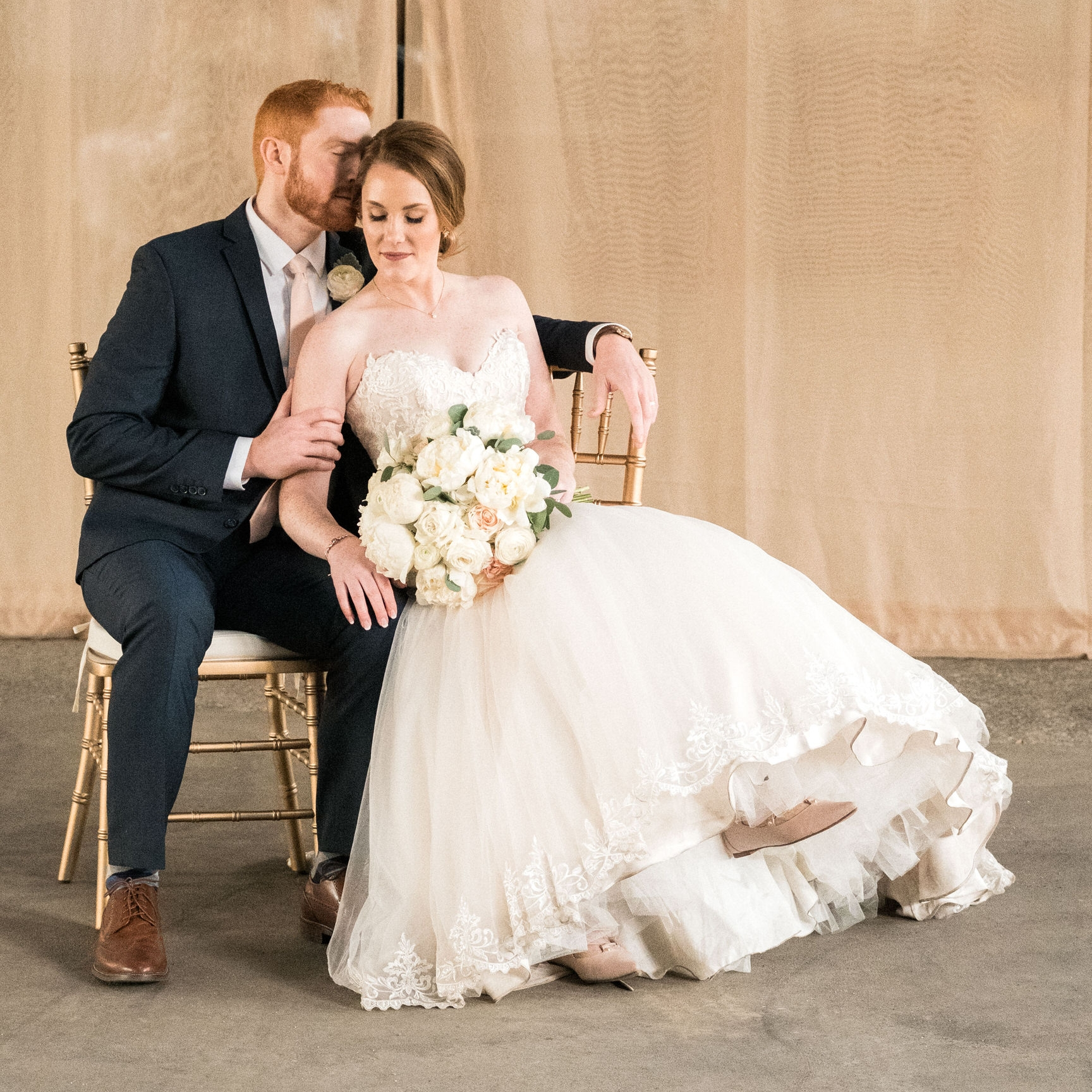 classic bridal portraits at the norther pacific center in brainerd