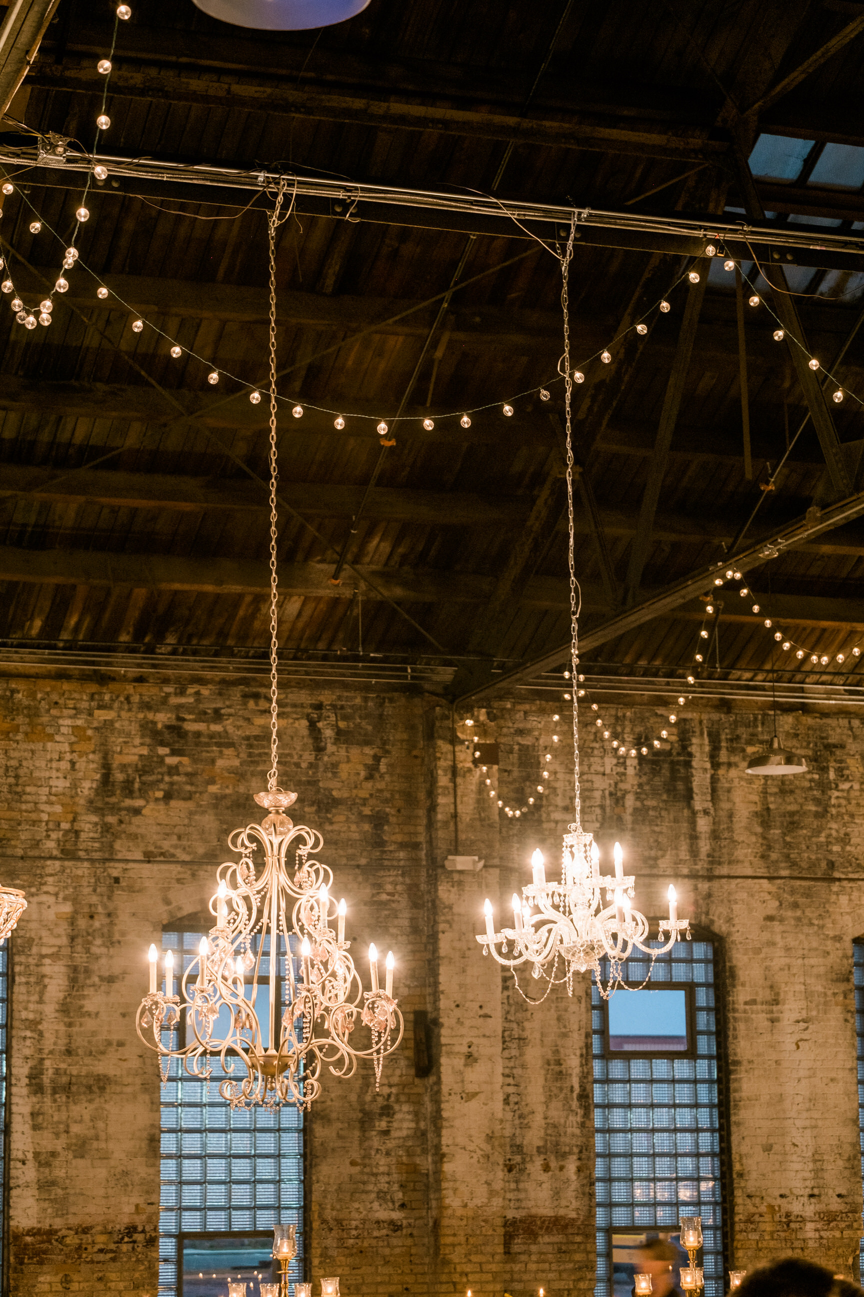 chandeliers in the np space