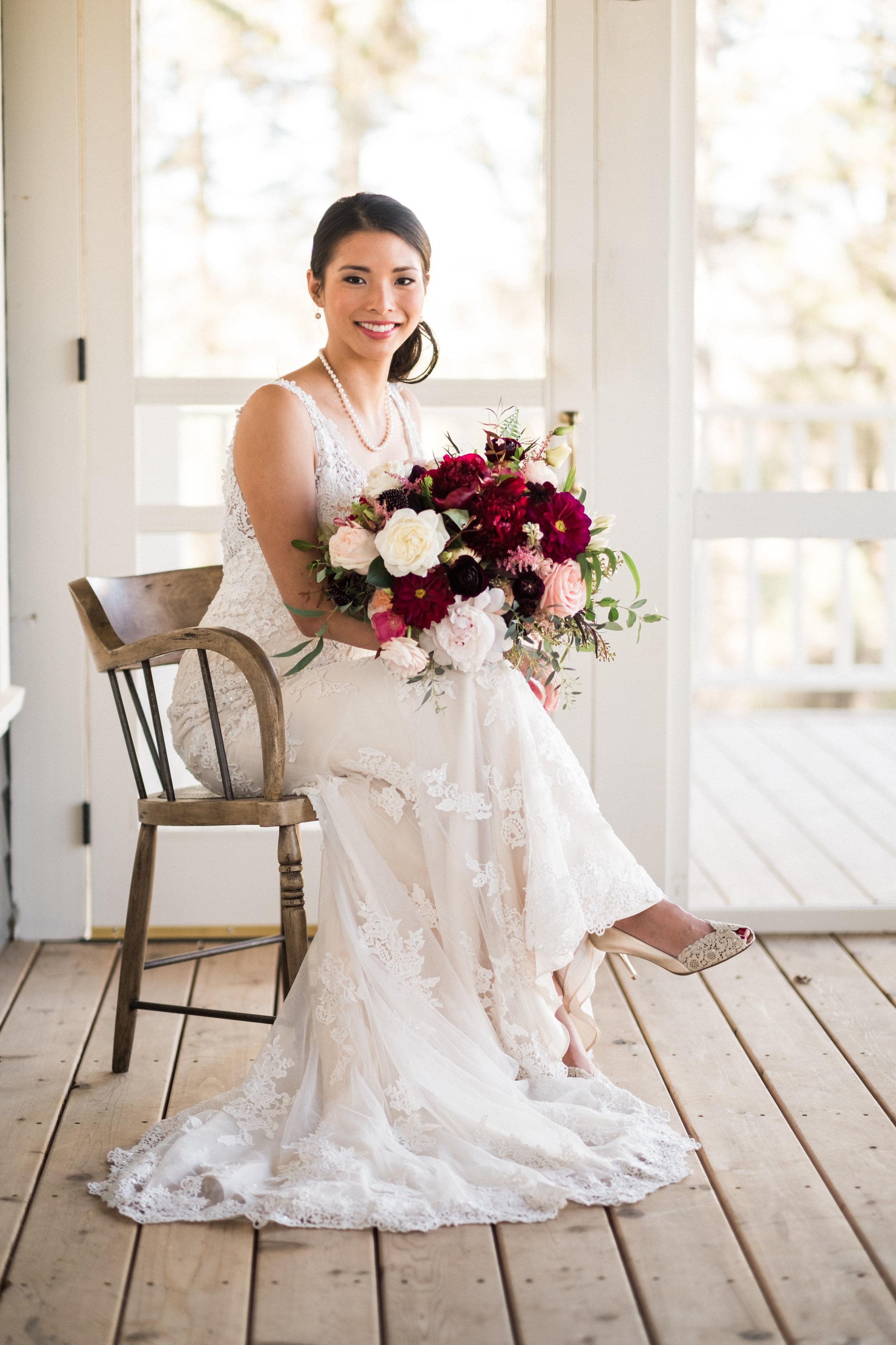 portraits of the bride brainerd wedding photographer