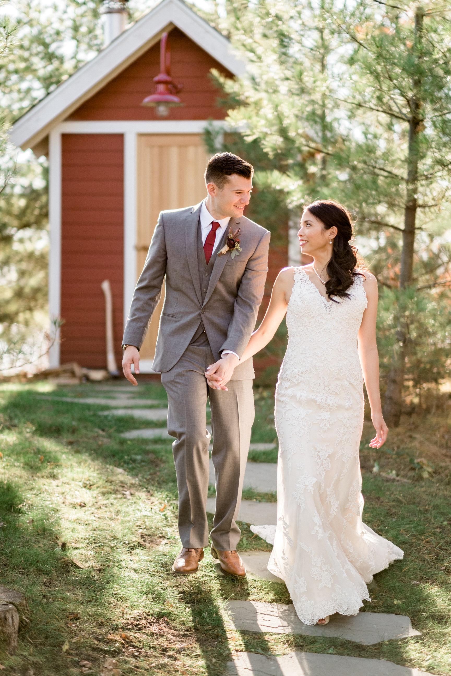 northern, mn barn wedding