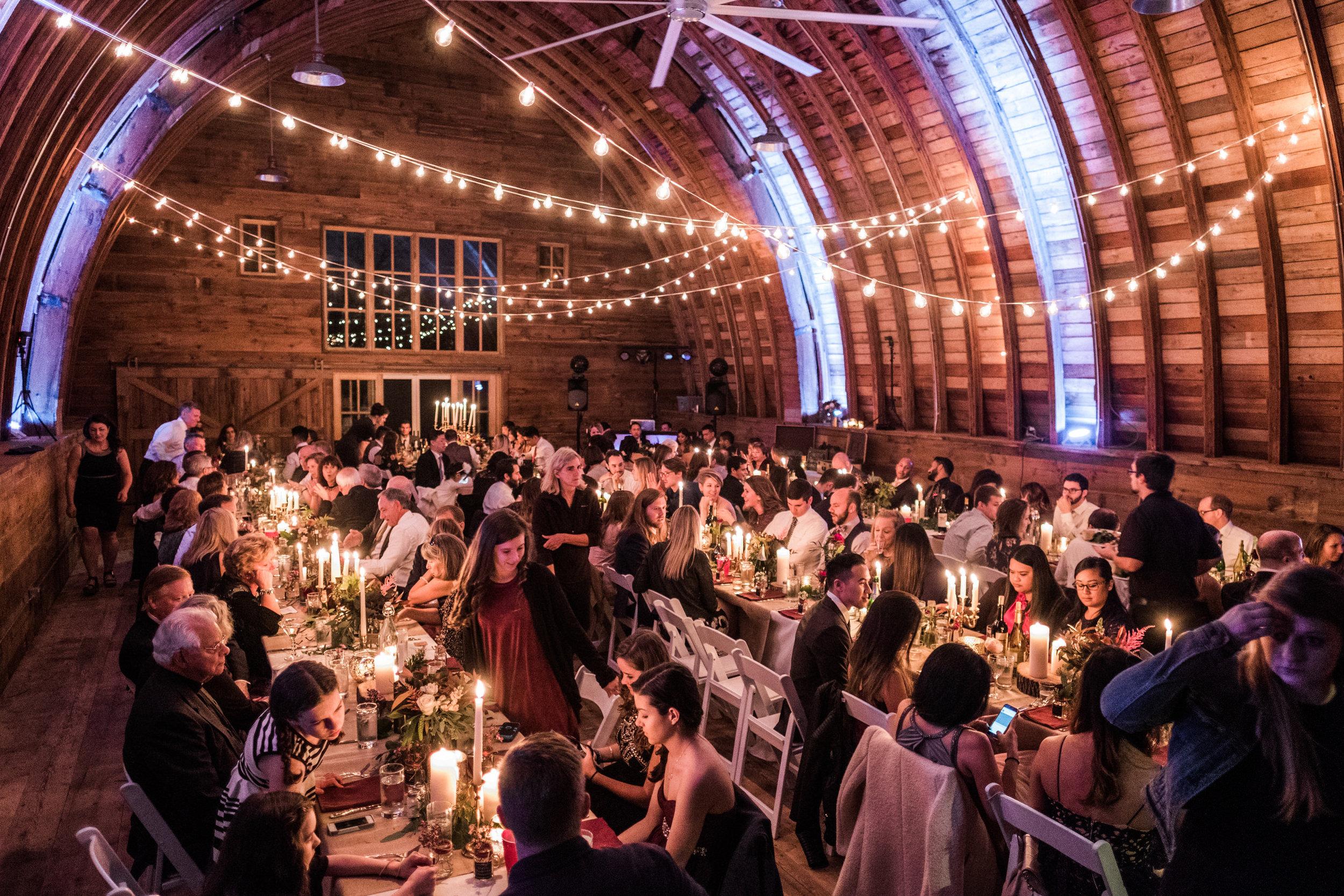 beautiful bran wedding reception in northern, mn