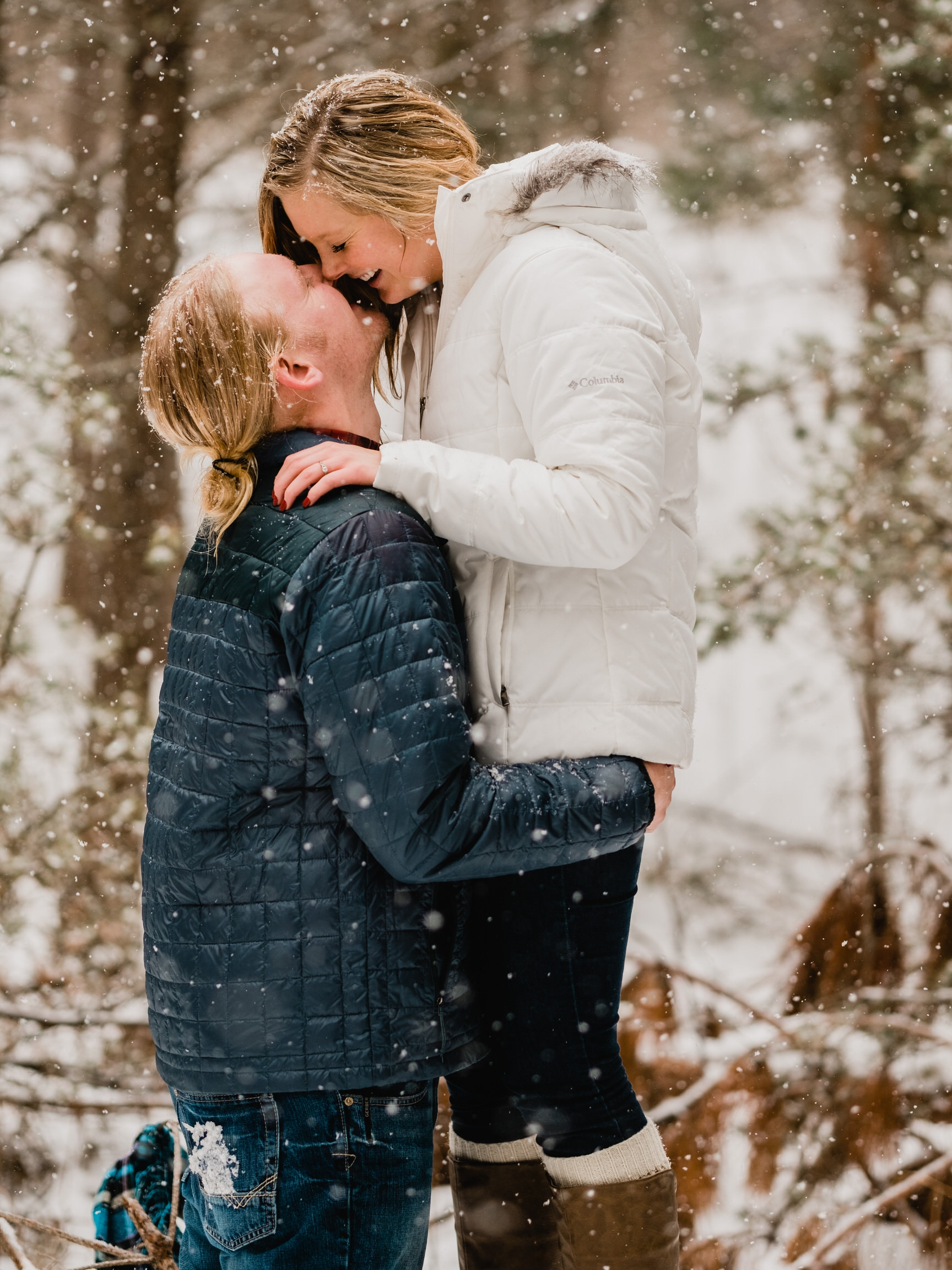 winter engagement session brainerd mn