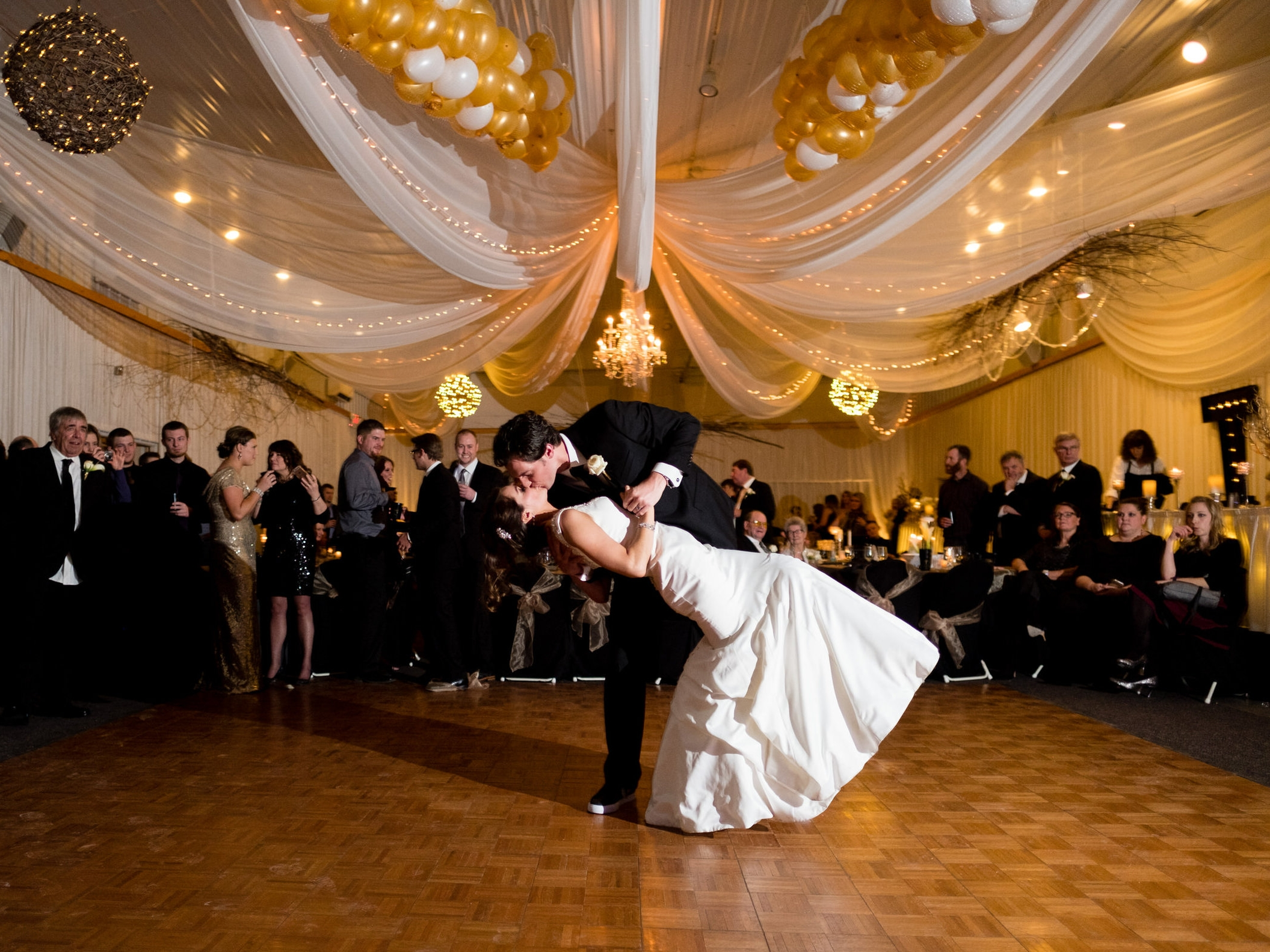 winter wedding dance at pine peaks event center in crosslake, mn