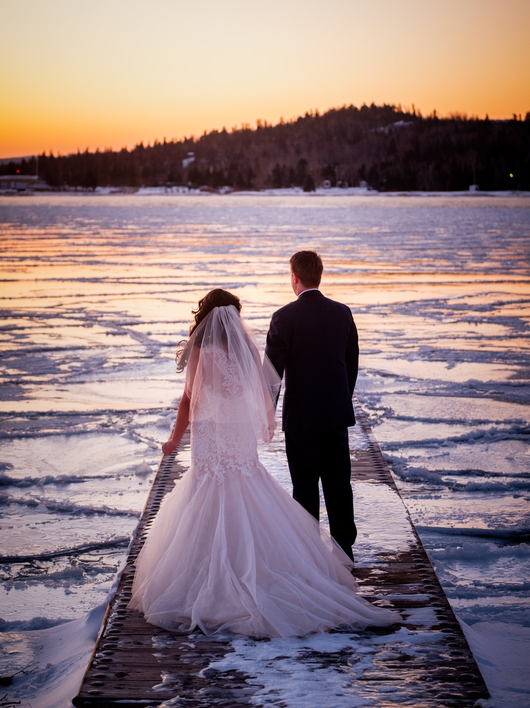 north shore winter wedding photographer