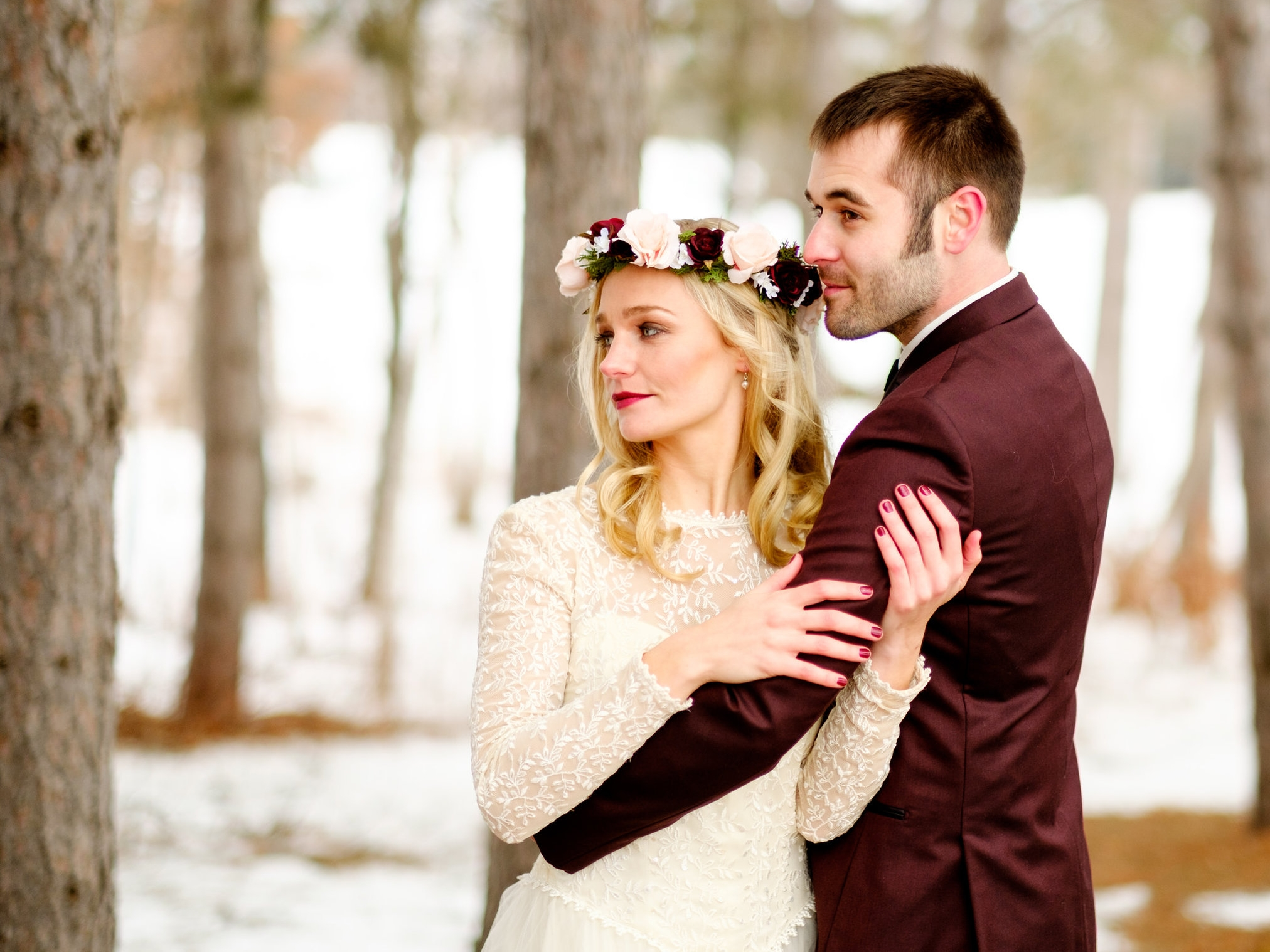 cragun's legacy winter wedding images
