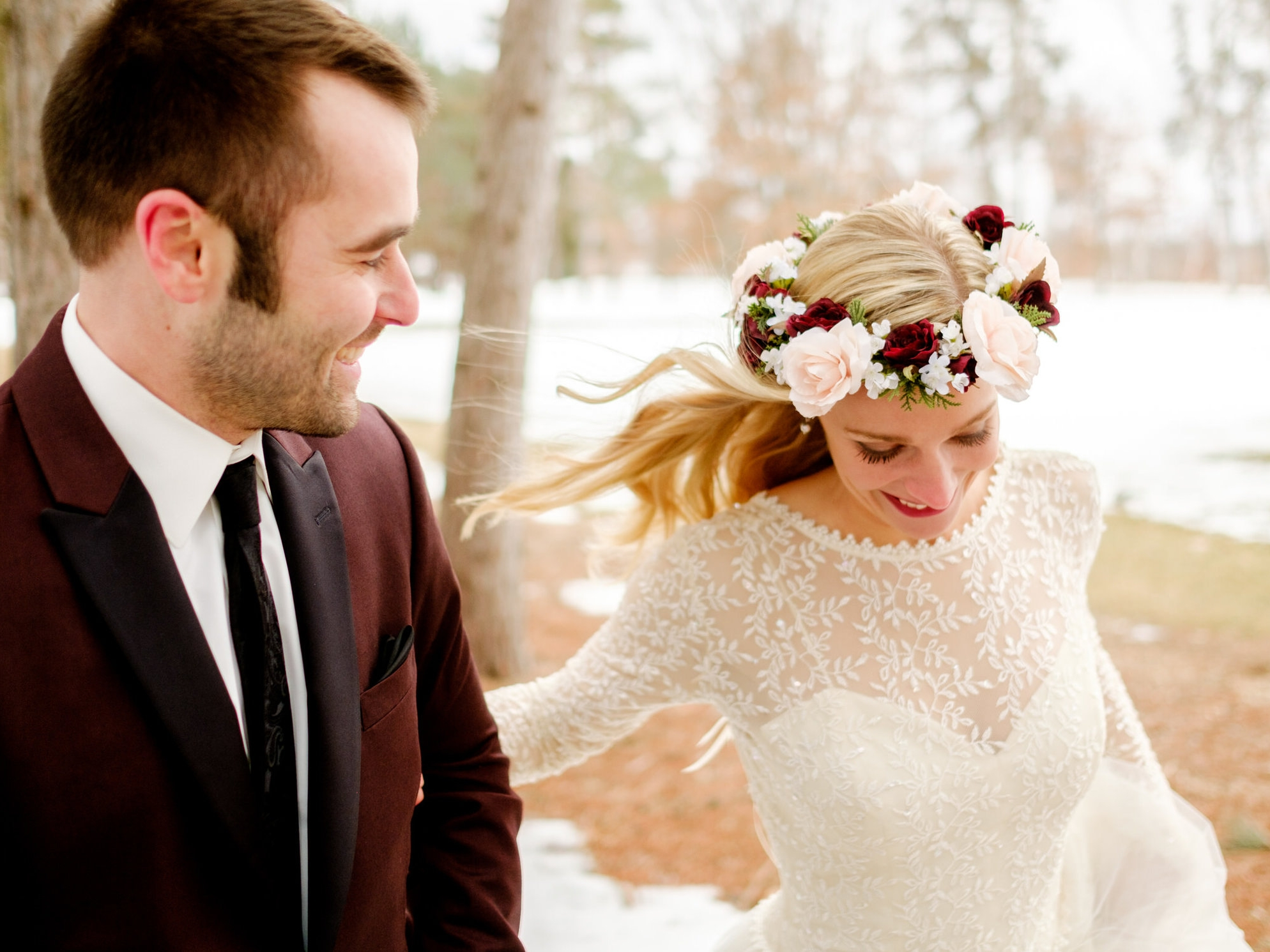 brainerd winter wedding images aty cragun's resort