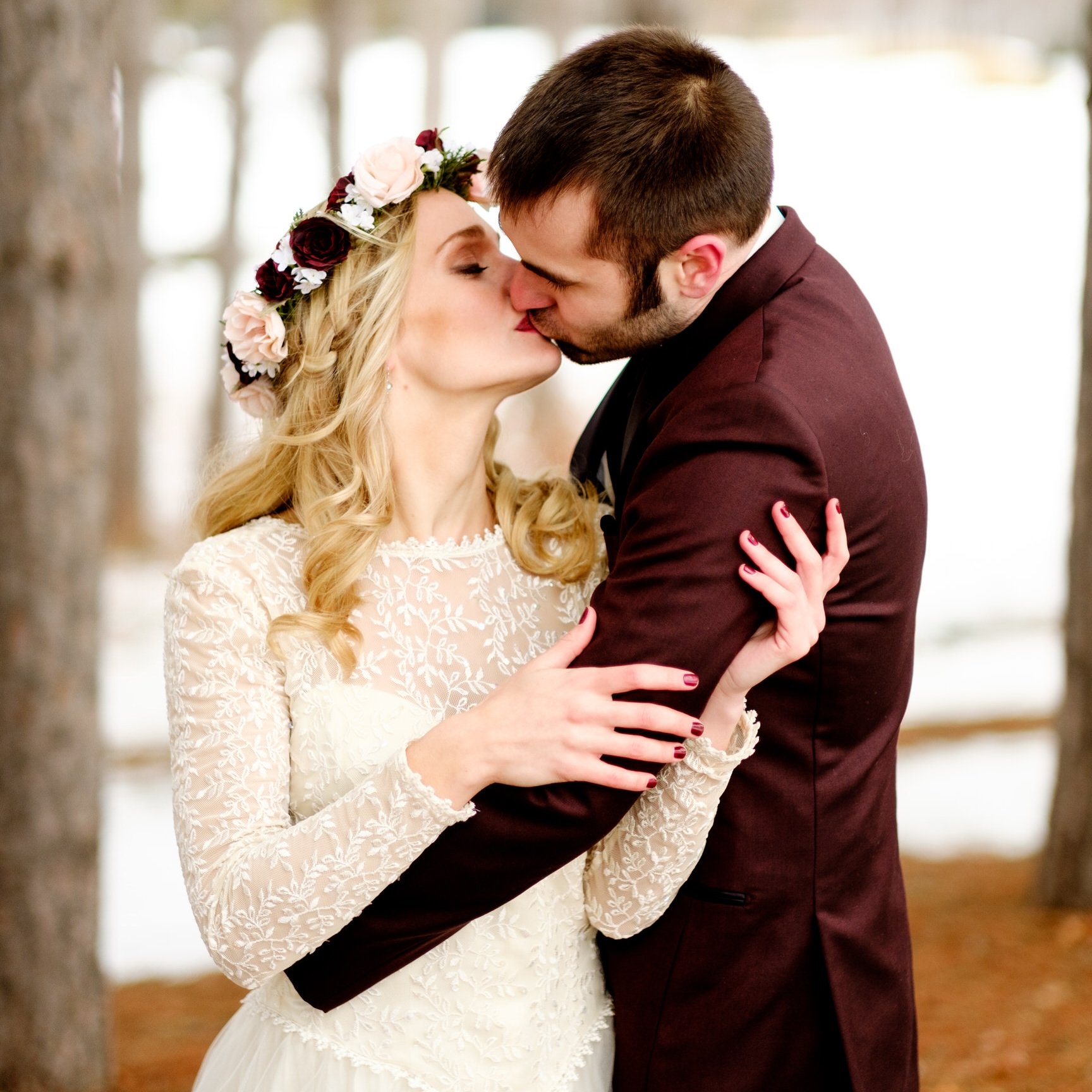brainerd winter wedding on gull lake