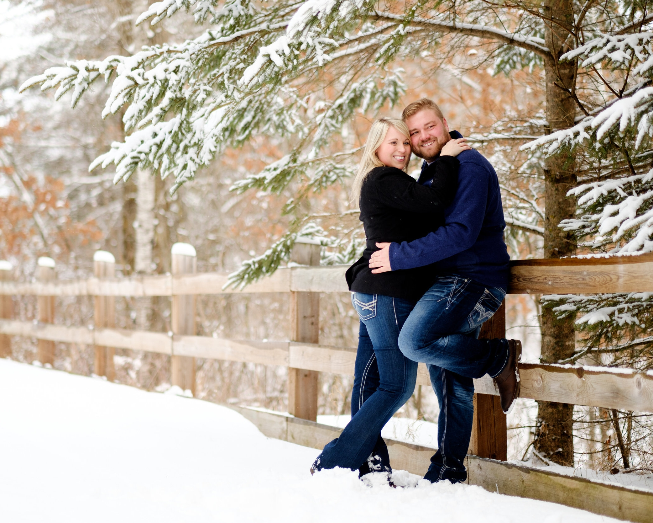 brainerd lakes area winter wedding
