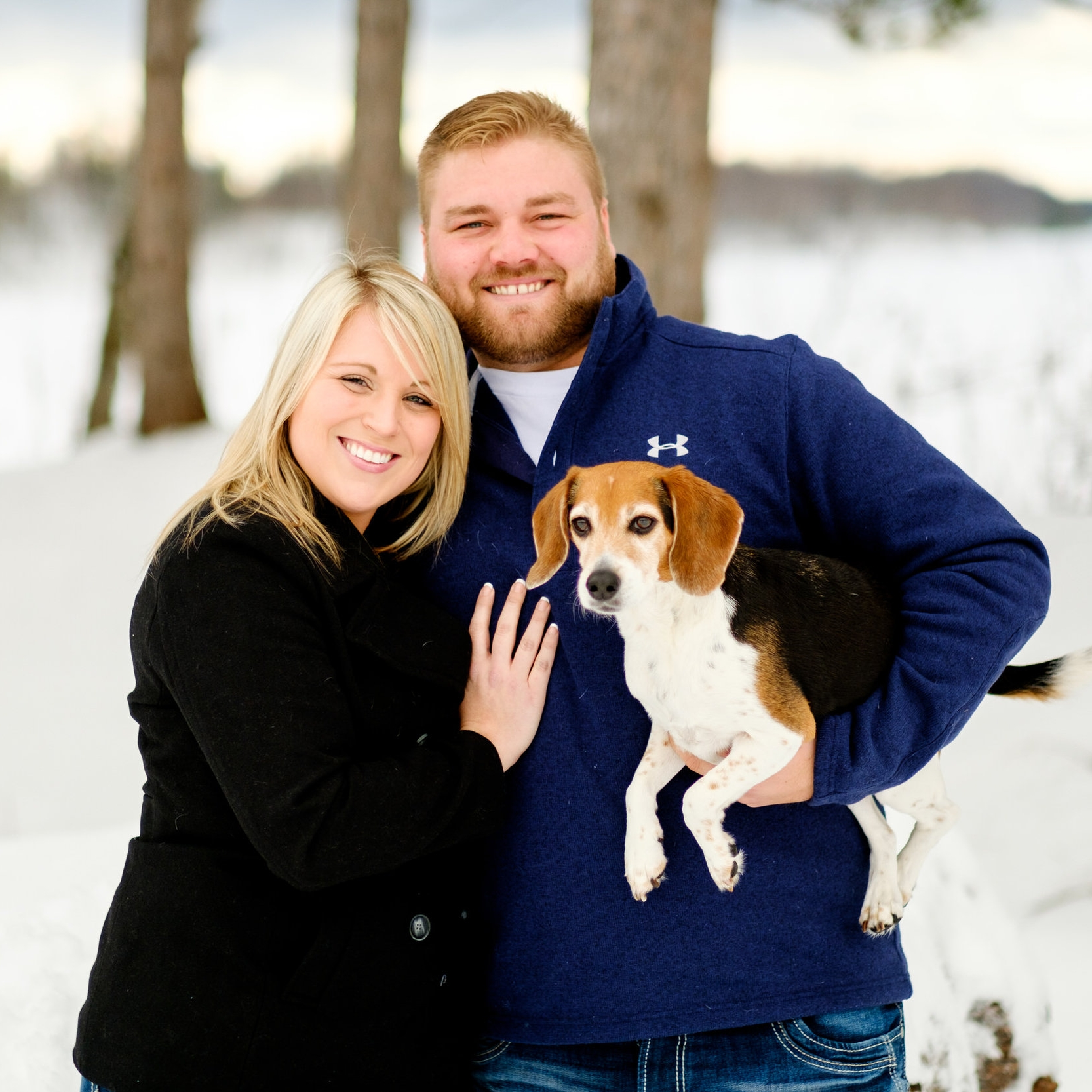 northern mn winter engagement session