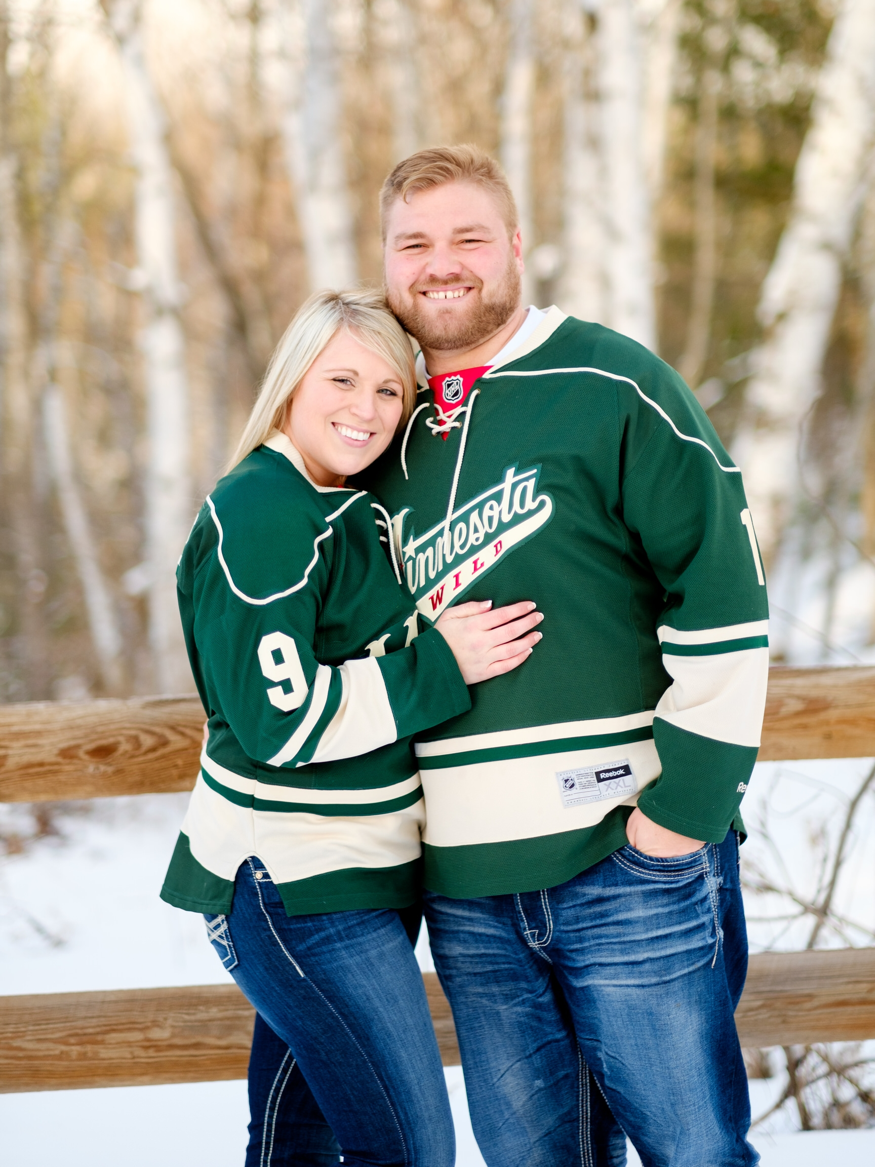 minnesota wild winter engagement session