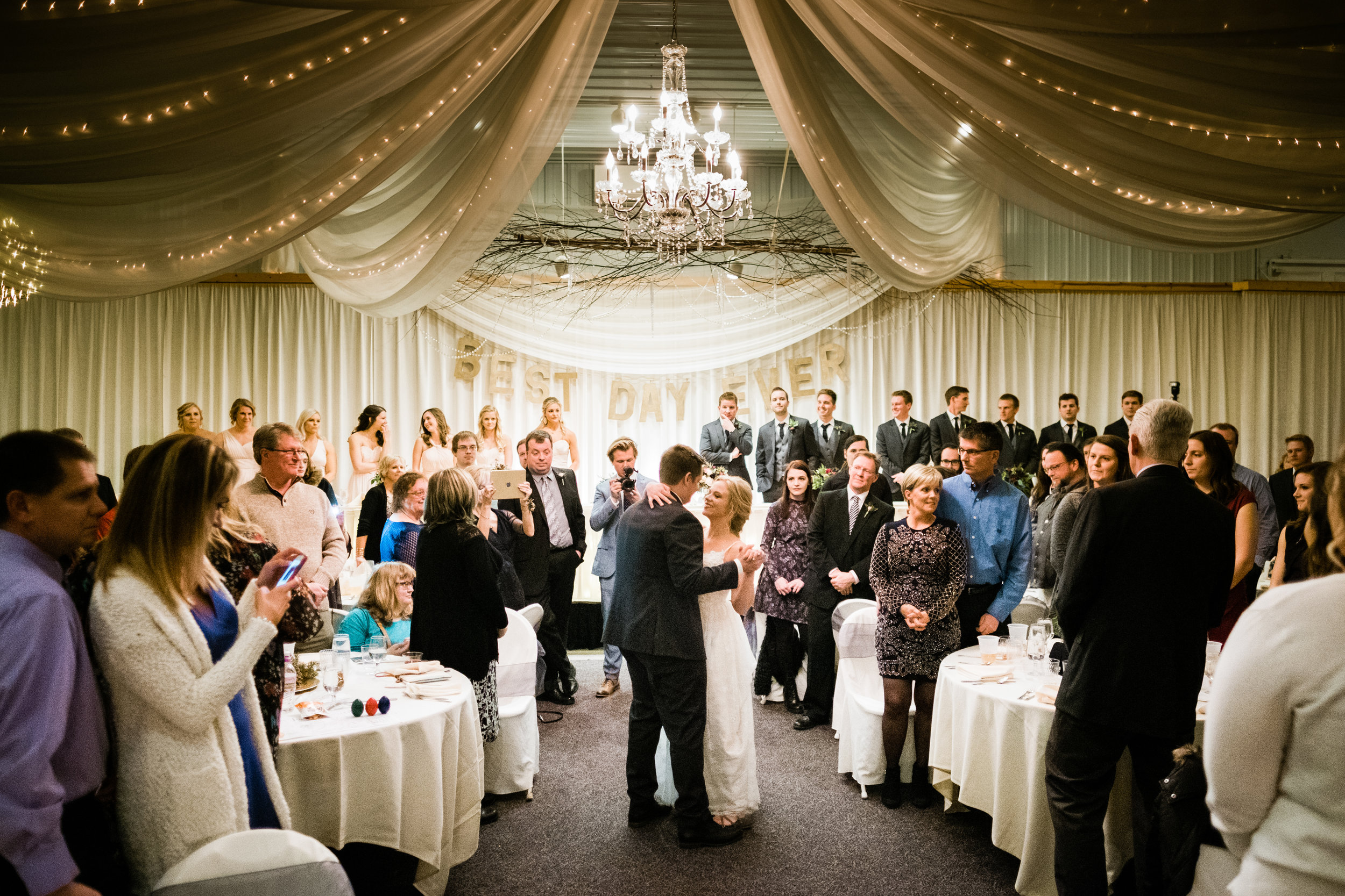 wedding reception in crosslake, mn photographer